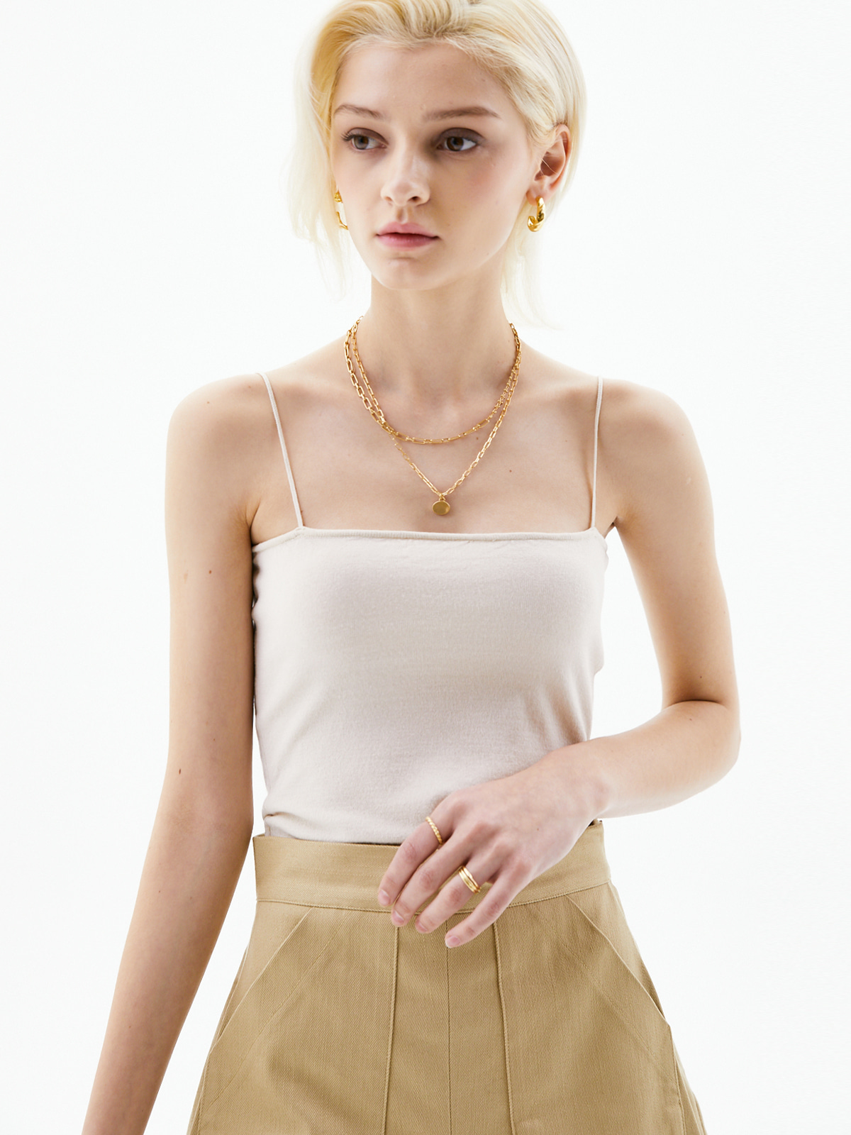 Helen Sleeveless Knit Top_Ivory