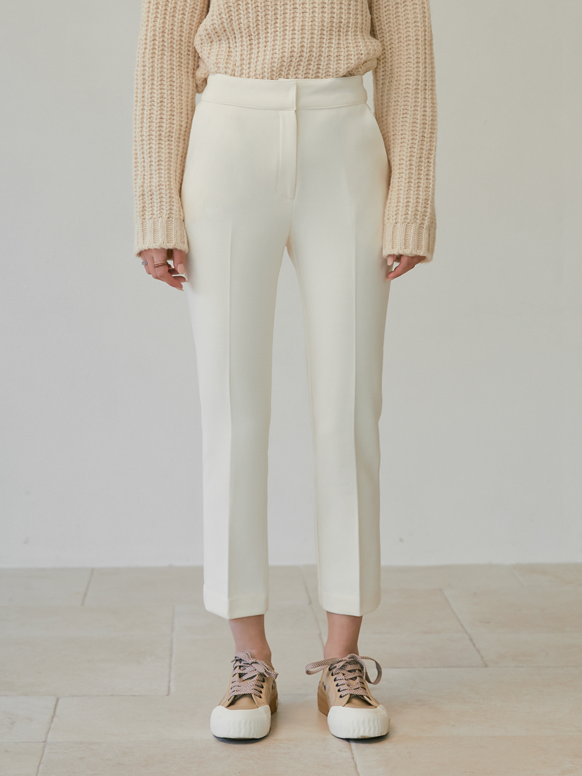 [FINALSALE 50%]Denise Straight Pants_Ivory