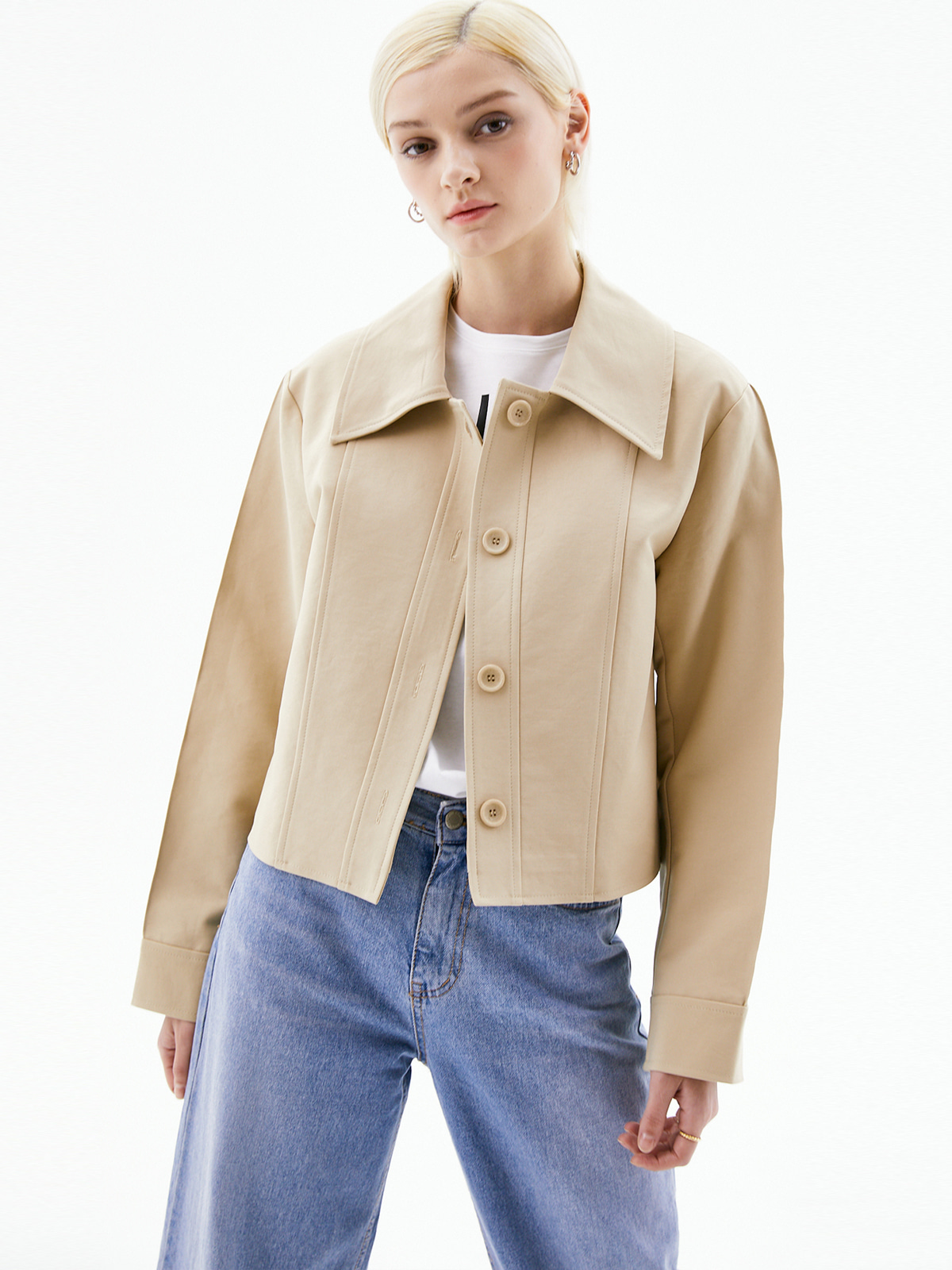 Sandra Collar Jacket_Beige