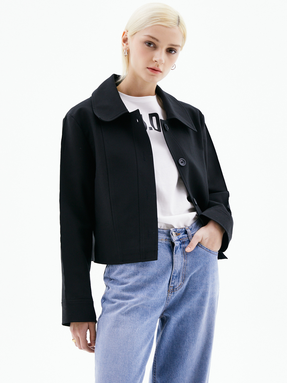 Sandra Collar Jacket_Black