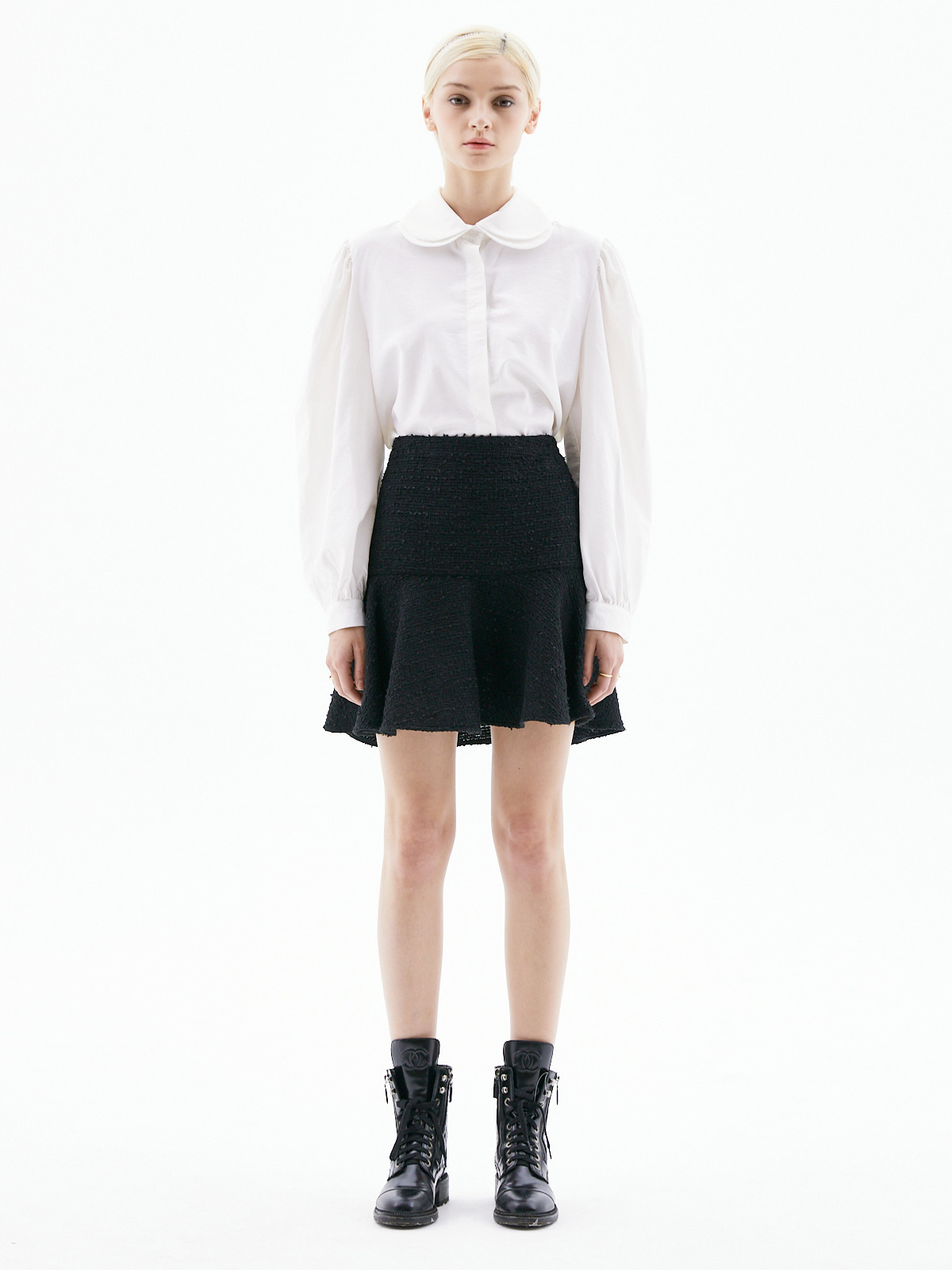 Alice Tweed Mini Skirt_Black