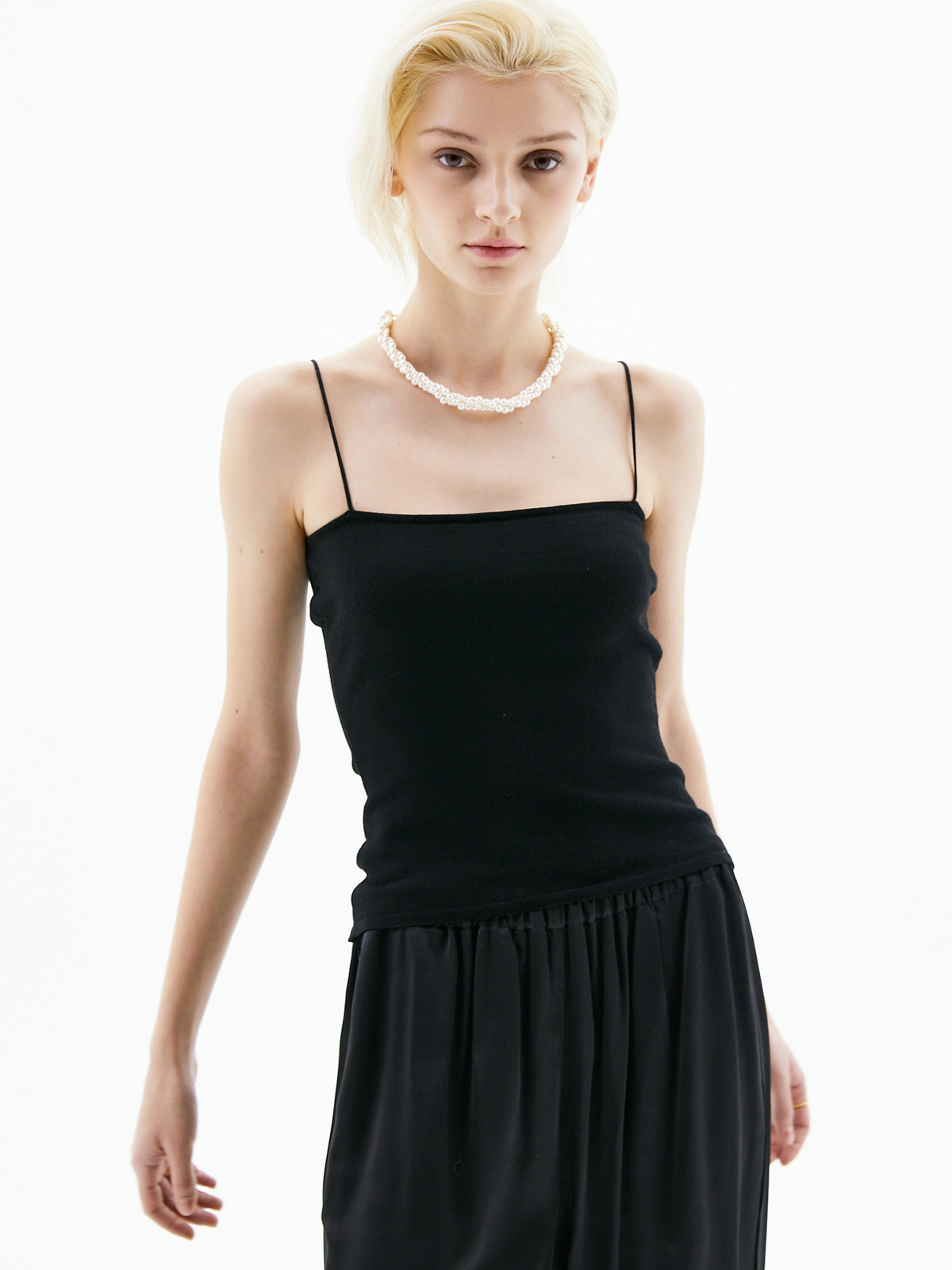 Helen Sleeveless Knit Top_Black